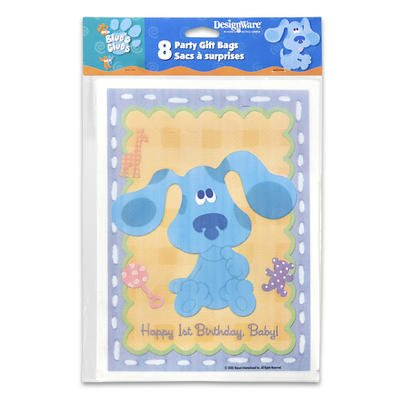 Blue's Clues 1st Birthday Loot Bags 8ct