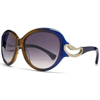 Alexander McQueen 4217S AW3 Blue Orange 4217S Round Sunglasses Lens Category 2