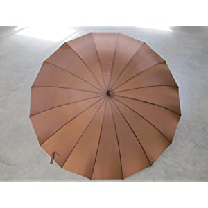 "Brown color 16 panel 60"" Golf Umbrella"