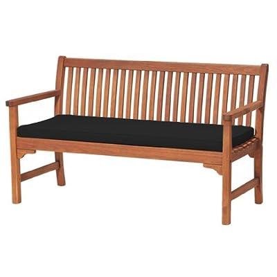 Platsch Sicher 3-sitzer Garten Bank Polster NUR schwarz von Shopisfy - Gartenmöbel von Du und Dein Garten