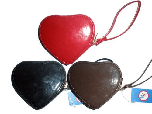 P-83098 red 3pcs a lot Valentine's day gift pu heart shape coin purse bag handbag