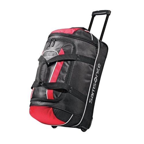 samsonite-luggage-andante-wheeled-duffel-black-red-22-inch