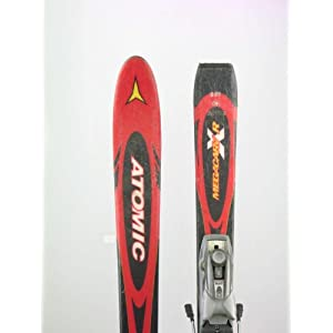 Used Atomic Megacarv R X Snow Skis with Marker M90 Binding 140cm C