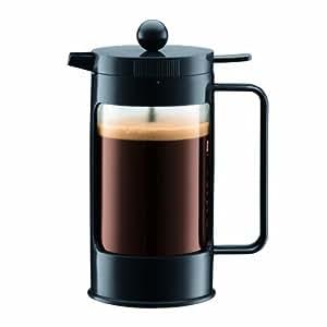 Bodum 11080-01 Bean Cafetière à Piston 3 Tasses 0,35 L Noir