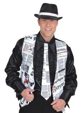 gebundene Krawatte Newstime zum Reporter Kostüm Karneval Fasching hier kaufen