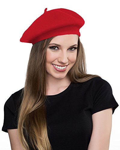 Red Beret Women's Beret Red Hat Knit Hat Knitted Beret  |Red Beret