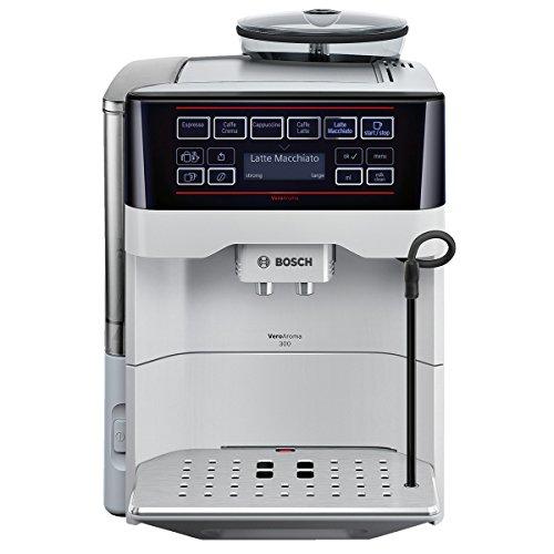 Bosch TES60351DE Kaffeevollautomat VeroAroma 300 OneTouch Zubereitung (1500 W, 1,7 L, 15 bar, Cappuccinatore) silber thumbnail