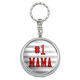 Portable Travel Size Pocket Purse Ashtray Keychain #1 Number One Favorite - #1 Mama Mom Mother