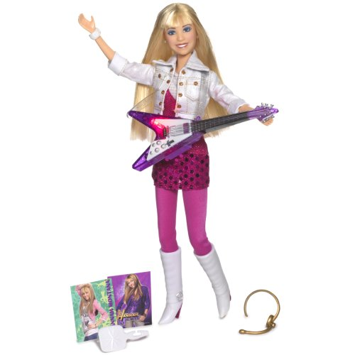 Hannah in hot pink dress with white gold glitter jacket & purple guitar