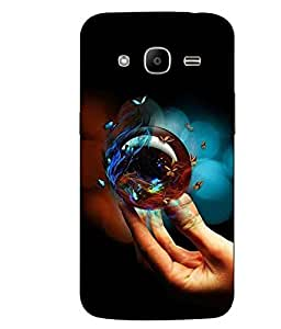 Make My Print Butterfly Printed Colorful Hard Back Cover For Samsung Galaxy J2 2016 Edition / J2 Pro