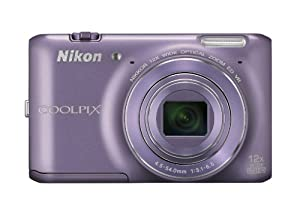 Nikon COOLPIX S6400 16 MP Digital Camera with 12x Optical Zoom and 3-inch LCD (Purple)
