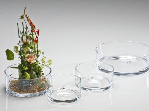 Sandra Rich Glasschale AUTOMATIC Glas Schale Kerzenschale Dekoschale flach rund, Ø 16 cm