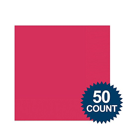 Magenta Beverage Napkins (50ct)