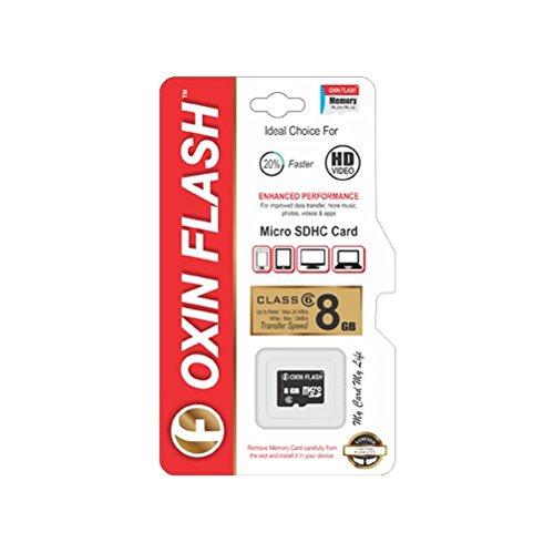 Oxin Flash 8GB MicroSDHC Class 6 (24MB/s) Memory Card