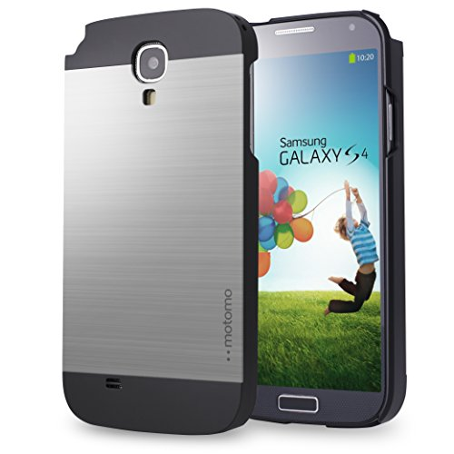 Galaxy S4 Case, MOTOMO Samsung Galaxy S4 Case Aluminum [Brushed Aluminum] Metal Cover Protective Case - Verizon, AT&T, Sprint, T-Mobile, International, and Unlocked - Case for Galaxy S4 / Galaxy SIV / Galaxy S IV / GS4 - Retail Packaging (SILVER) (Samsung Galaxy S4 Ford Case compare prices)