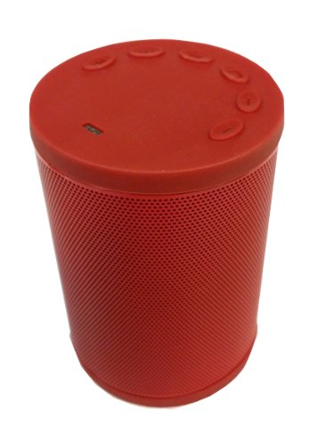 Wisort High-End Ultra-Portable Wireless Bluetooth Speaker With Apple Siri Function, Powerful Sound With Build In Microphone, Works With Iphone, Ipad 4/3/2, Itouch, Blackberry, Nexus, Samsung And Other Bluethooth Enabled Smart Phones And Mp3 Players (Red)