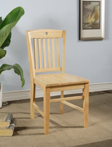 Heavy Duty Solid Wood Natural Finish Dining Room - Kitchen Side Chair