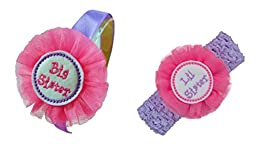 Sisters Matching Headband Boxed Gift Set with Tulle Flower Funny Girl Designs