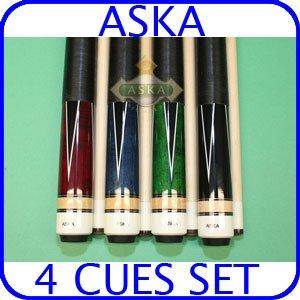 Billiard Pool Cue Stick Set Aska L4 4 pool cue sticks