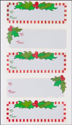 Jillson Roberts Christmas Satin Mylar Gift Labels,