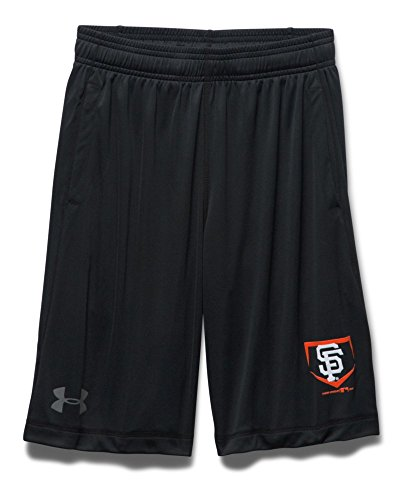 Under Armour Big Boys' San Francisco Giants UA Raid Shorts Youth Medium Black