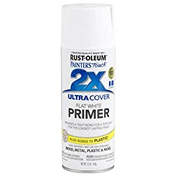 Rust-Oleum 249058 Painter's Touch Multi-Purpose Spray Paint, White Primer, 12-Ounce