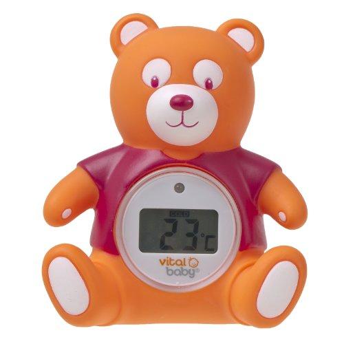 Vital Baby Nurture Digital Bath and Room Thermometer (Orange)