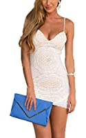 COOFANDY Womens Strap V Neck Lace Floral Package Hip Bodycon Dresses