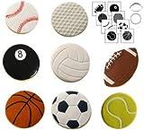 Autumn Carpenter Designs Sports Ball Cookie Cutter & Impression Mat Set