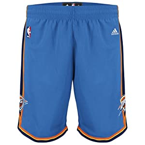 Adidas Oklahoma City Thunder Youth (Sizes 8-20) Revolution 30 Replica Road Shorts
