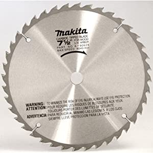 Makita A-90629 7-1/2-Inch 40 Tooth Carbide Tipped Wood Saw Blade