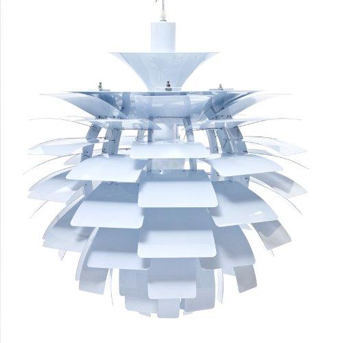 B007QULLU0 LexMod 24″ Artichoke Style Chandelier Modern Lamp in White
