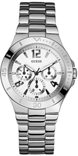 GUESS U11645L1 Active Shine Watch, Silver