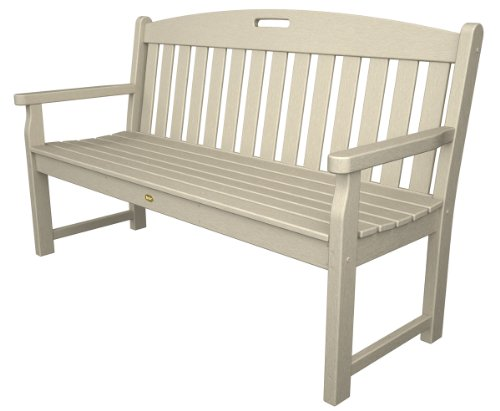 Trex Outdoor Furniture TXB60SC 60-Inch Yacht Club Bench, Sand Castle
