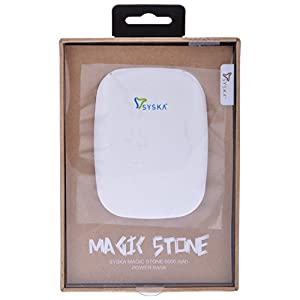 Syska Magic Stone 6000 mAh Power Bank  White  available at Amazon for Rs.2099