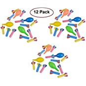 "Foam Rocket Set With Hand Pump Launchers 12 Pack Of 3 1/2"" Inch Rockets For Kids, Parties, Birthdays, Gifts, Party..."