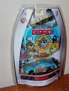The Adventure of Digger & Friends 1/64 Scale Car & Bonus Magnet 1/24 Scale Hood Winners Circle 2009 - 1