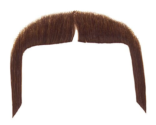 Loftus International Real Human Hair Cowboy Gunslinger Moustache, Brown, One Size