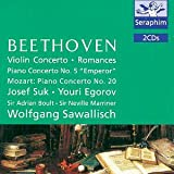 Josef Suk Beethoven, Mozart: Violin Concerto in D, Romances 1 & 2, Piano Concerto No.5 / Piano Concerto No. 20