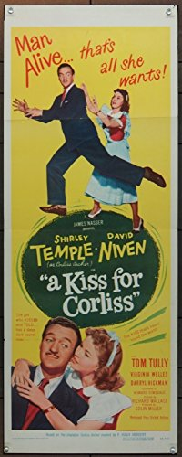 Kiss For Corliss, A (1949) Original Insert Movie Poster (14x36) Fine Plus Condition SHIRLEY TEMPLE DAVID NIVEN Directed by RICHARD WALLACE (Movie Insert compare prices)