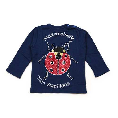 "Mademoiselle Papillon (""Miss Butterfly"") - Tee-Shirt - Long-Sleeve - Lady Bug back-214426"