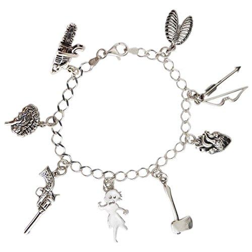 Silver Zombie Apocalypse Charm Bracelet