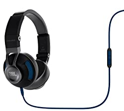 JBL Synchros S300a Premium On-Ear Stereo Headphones Black/Blue