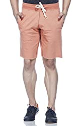 Tinted Men's Cotton Polyester Shorts TJ4201-RUST-M