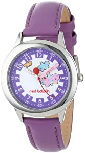 Red Balloon Kids' W000191 Butterflies Stainless Steel Time Teacher Watch