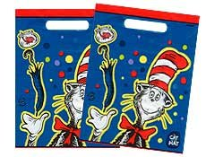 Dr Seuss Cat in the Hat Goody Bags Party Favor Loot Treat Sacks 8Ct