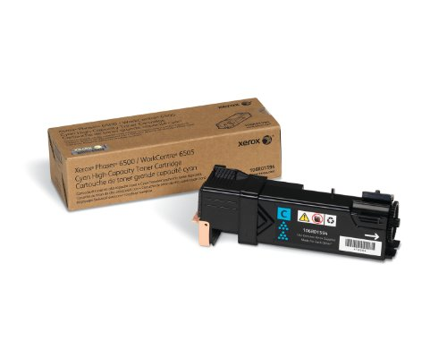Genuine Xerox Standard Capacity Cyan Toner Cartridge for use with the Xerox WorkCentre 6505/Phaser 6500- Part# 106R01591