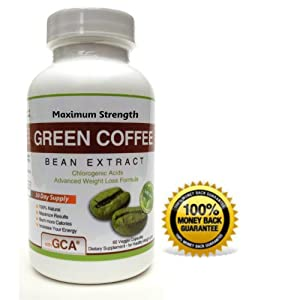Health Fit Supplements Pure Green Coffee Bean Extract GCA 800mg All ...