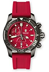 Victorinox Swiss Army Men's 241422 Dive Master 500 Chrono Red Dial Watch