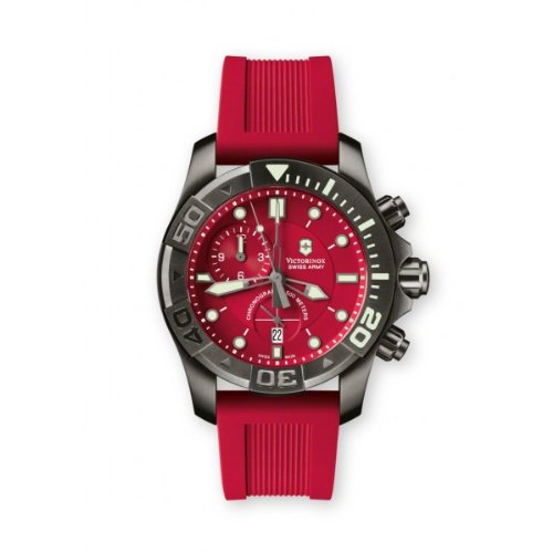 Victorinox Swiss Army Men's 241422 Dive Master 500 Chrono Red Dial Watch (Dive Master Chrono compare prices)
